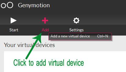 Cài đặt máy ảo với Genymotion