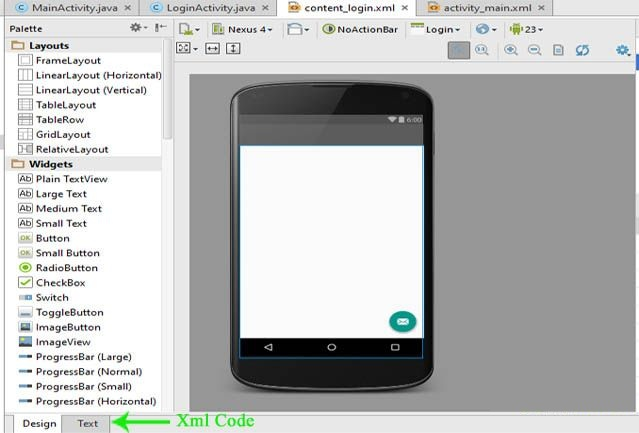 Tạo layout cho Activity trong Android Studio