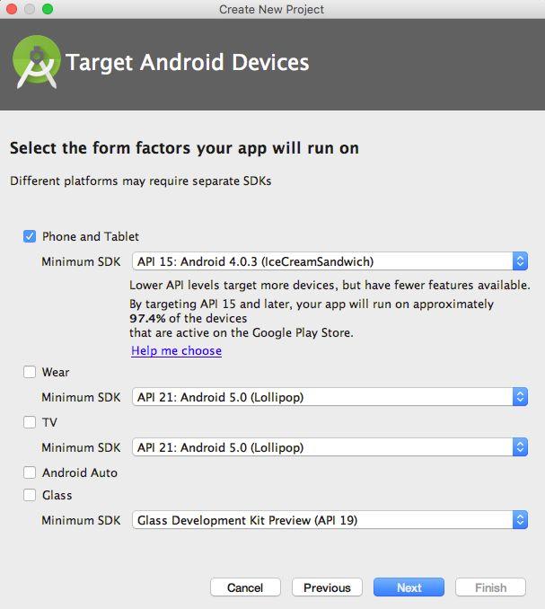 sử dụng Android Studio để tạo dự án mới
