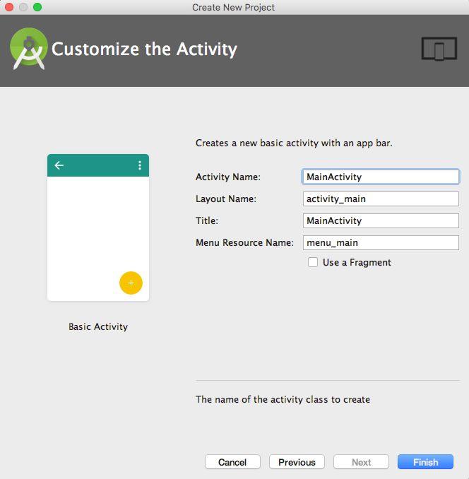 Sử dụng Android Studio - Cấu hình Activity