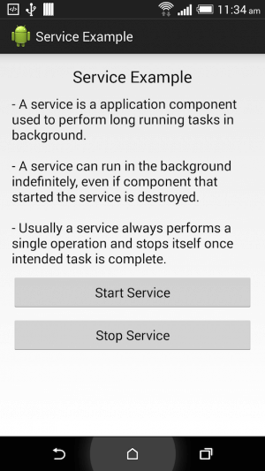 Service trong android