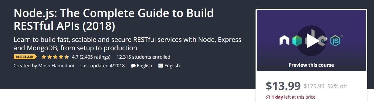 Từng bước xây dựng Nodejs RESTful APIs (2018)