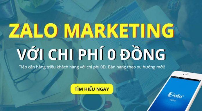 Zalo Marketing với chi phí 0 đồng