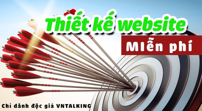 Dịch vụ thiết kế website miễn phí