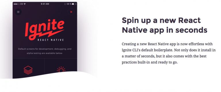 Ignite là một react native starter kit miễn phí rất tốt