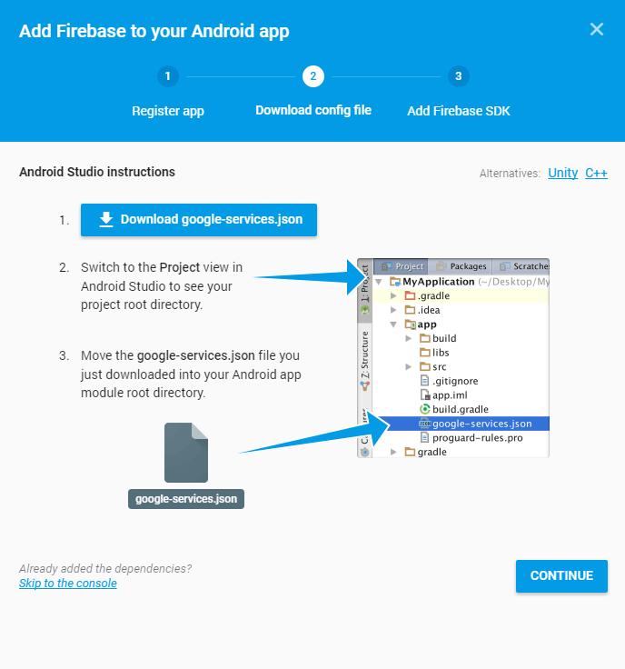 Tải file Json cấu hình về máy tính