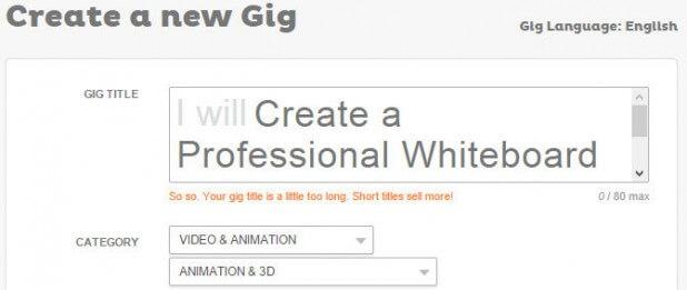 Tạo Gig kiếm tiền với Fiverr