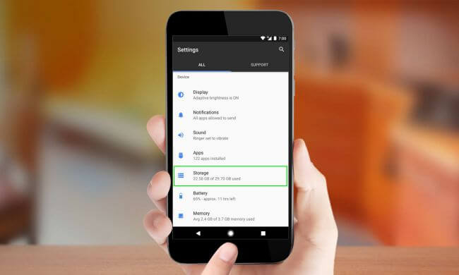Thông tin Storage smartphone