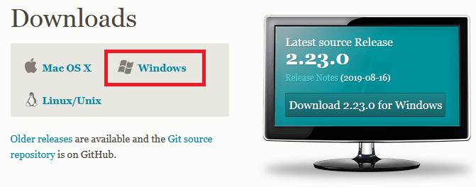 Cài đặt git trên window, linux