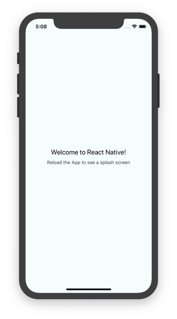 Ứng dụng hello world bằng react native