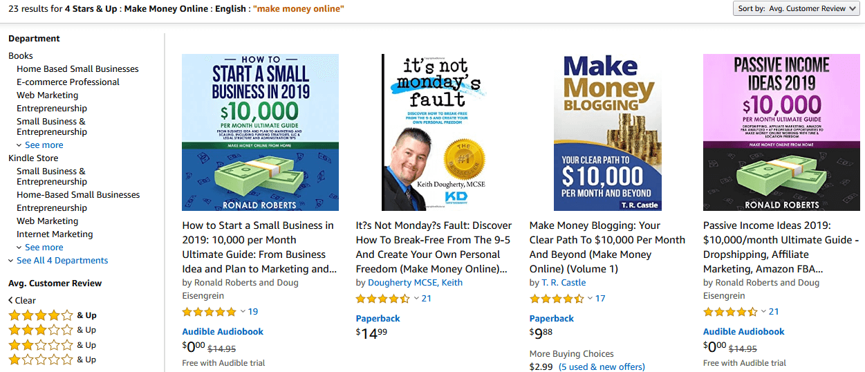 Sách trên Amazon rất đa dạng