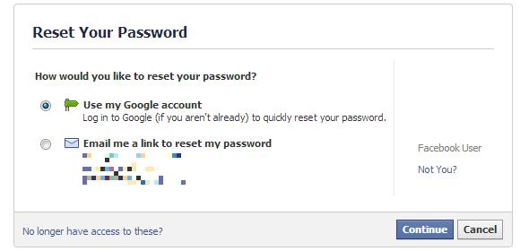 lấy mật khẩu facebook qua email