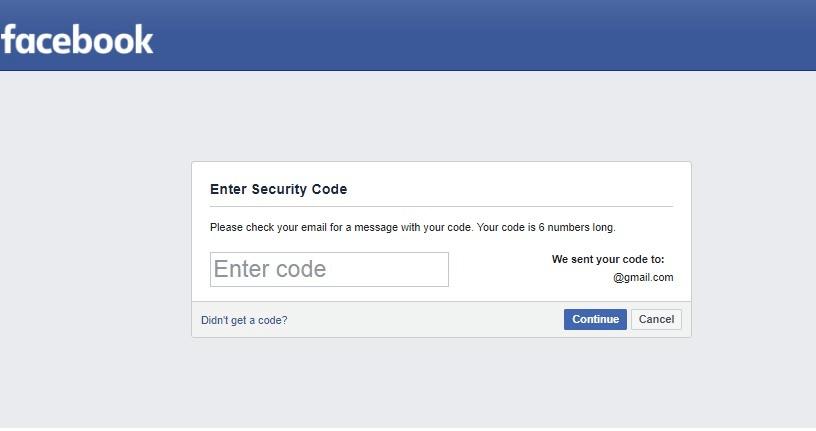nhập mã mở khóa tài khoản