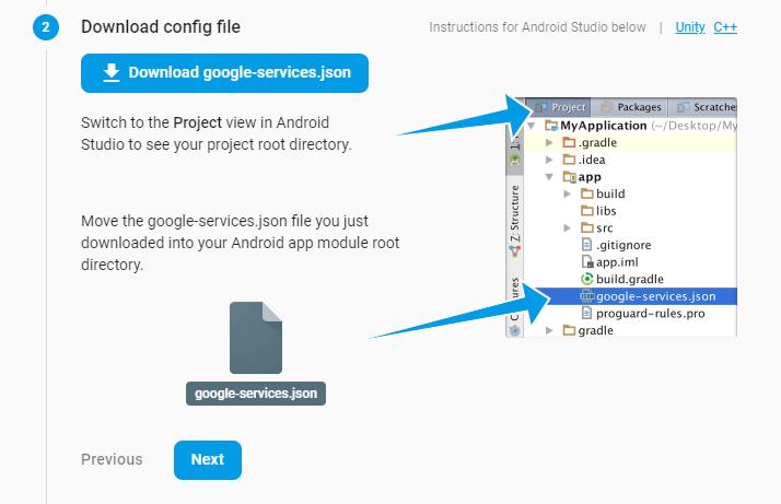 Tạo dự án trên firebase console