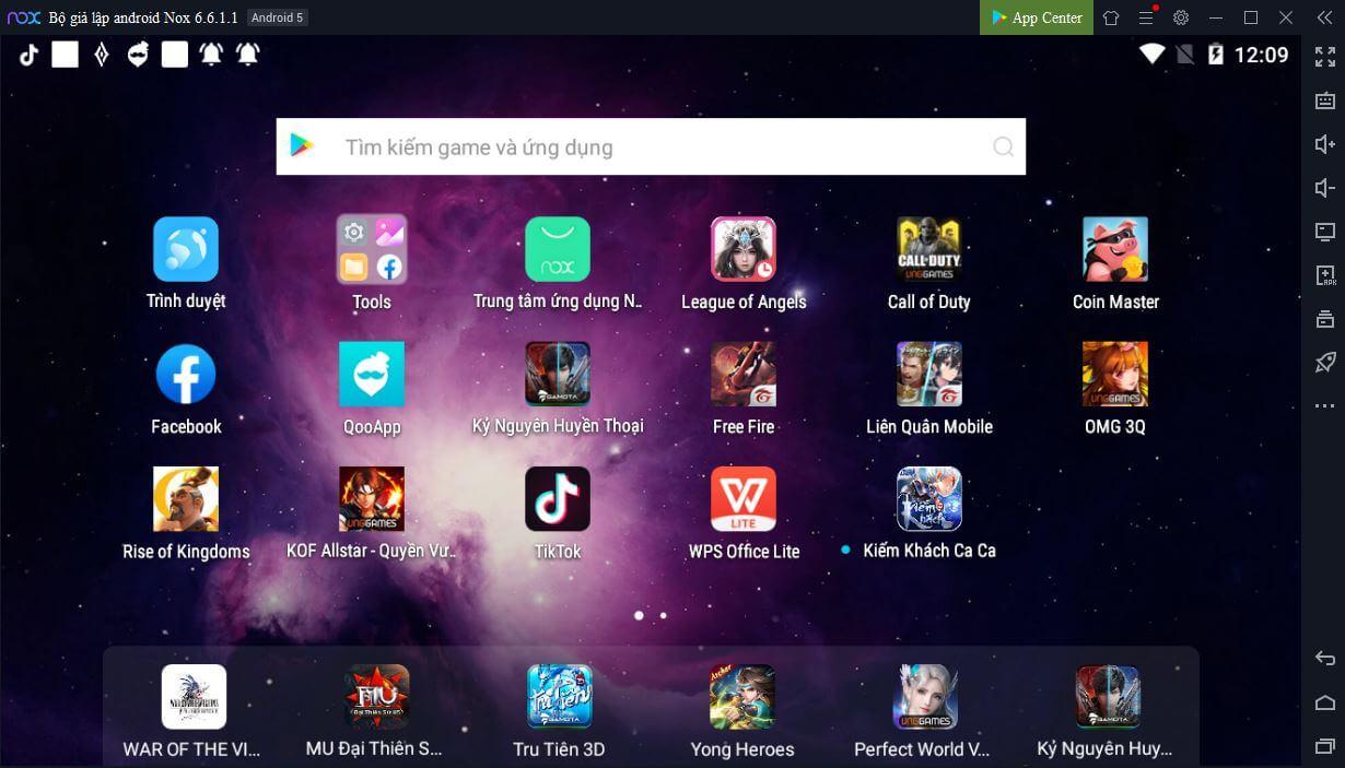 Máy ảo giả lập Android nhẹ nhất NoxPlayer