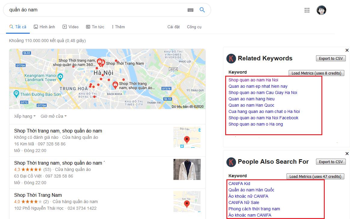 Tìm trend bằng google