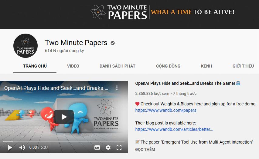 Kênh youtube học machine learning cơ bản