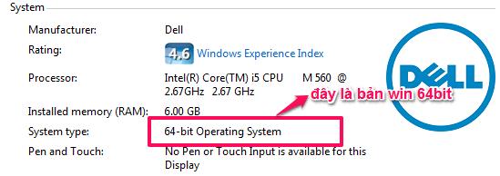 Kiểm tra window 32bit hay 64bit